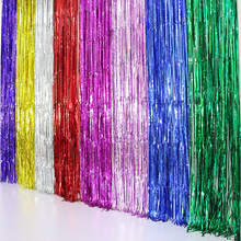 1Pc Multicolor Rain Curtain Scene Props Photo background Halloween Wedding Birthday Party Wall Decoration Party Supplies(China)