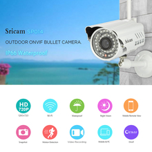 Sricam SP014  WiFi 720P IP Camera Wireless Support Onvif Network P2P Phone Remote View Waterproof Outdoor Smart Home CCTV Camera