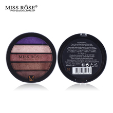 Professional New 5 Colors Eye Shadow Round Palette Makeup Glitter Pigment Eyeshadow Make Up Palette Layering Miss Rose Cosmetics