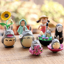 9 PCS Studio Ghibli Anime Figure My Neighbor Totoro Toy Hayao Miyazaki Mini Garden PVC Action Figures Kids Toys For Boys Girls