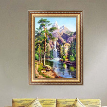 Waterfall Landscape Diamond Embroidery 5d Diamond DIY Painting Cross Stitch Home Decor 40*30cm -Y102