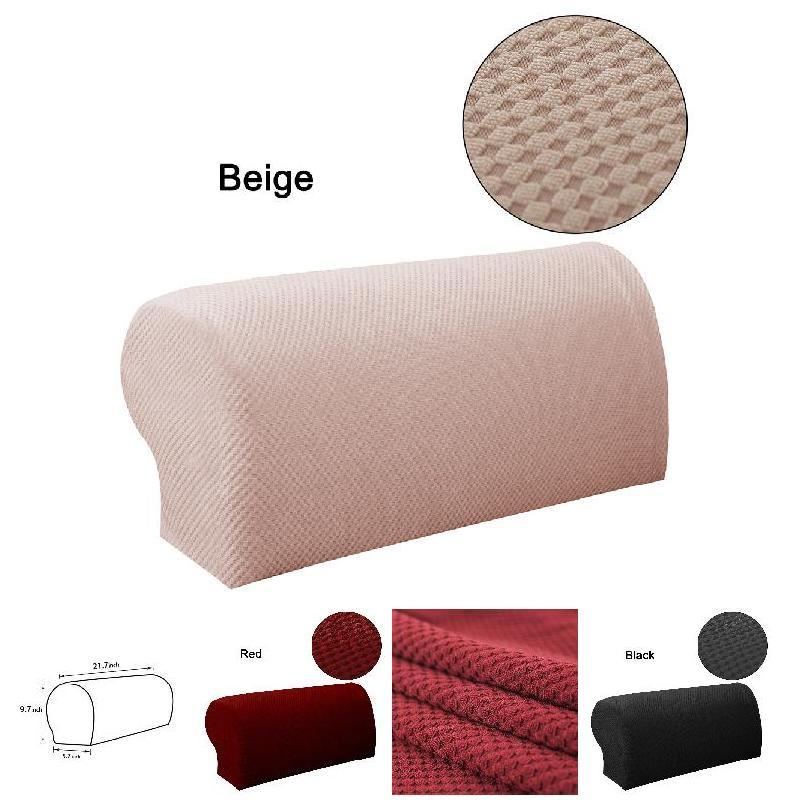 1pair Soild Simple Arm Chair Protector Sofa Couch Armchair Covers Stretch Armrest Cover @ls Ja04 Home & Garden