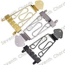 A Set 4 String Jazz Archtop Bass Guitar Trapeze Tailpiece with Wired Frame Hollow Semi Hollow - Chrome - Black - Gold for choose