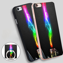 Rainbow Flame  Soft TPU Silicone Phone Case Cover for iPhone 5 SE 5S 6 6S 7 Plus