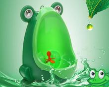 1X Baby Boy Potty Cute Frog Stylish Vertical Toilet Training Baby Urinal Wall Hung Type Green Coffee Blue Color Available