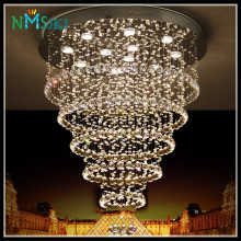 Modern Luster De Crystal Chandelier Large Cristal Lighting Fixtures Hotel Projects Staircase Lamps Restaurant Cottage Lights(China)