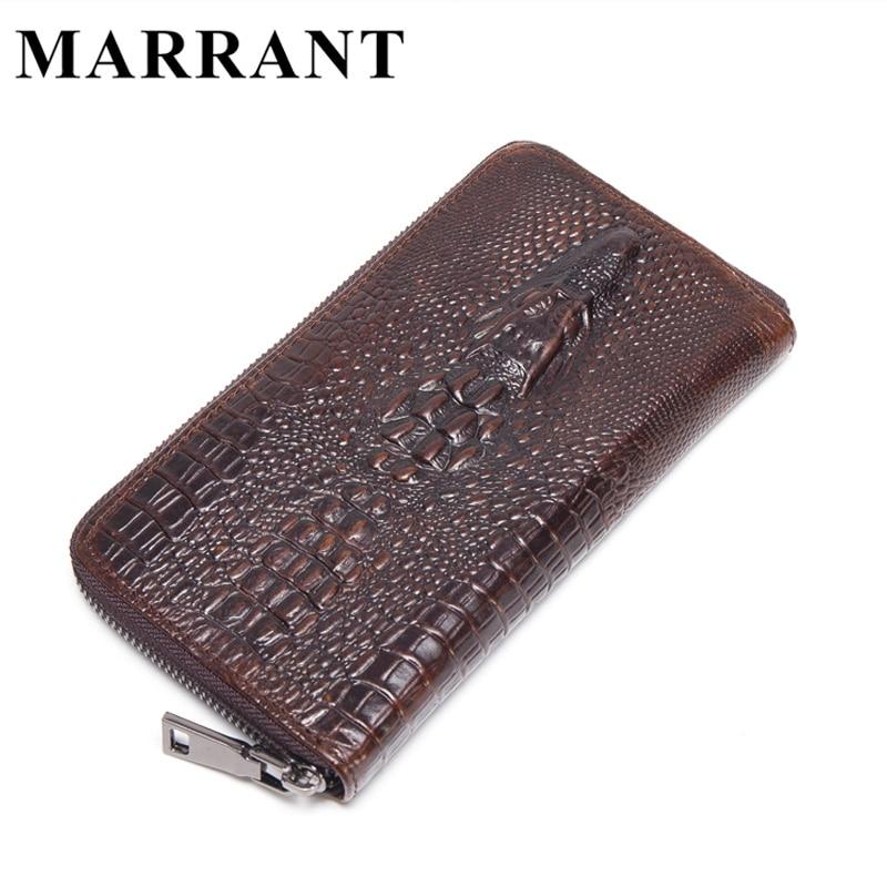 MARRANT Genuine Leather Men Wallets New Male Purse Zipper Clutch Bag Mens Fashion Wallet Crocodile Pattern Man Money Clip 1232<br><br>Aliexpress