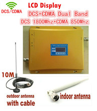 LCD Display ! Dual Band 4G DCS 1800mhz+ CDMA 850mhz Signal booster Mobile Phone Booster Amplifier , Cell Phone Repeater Extend