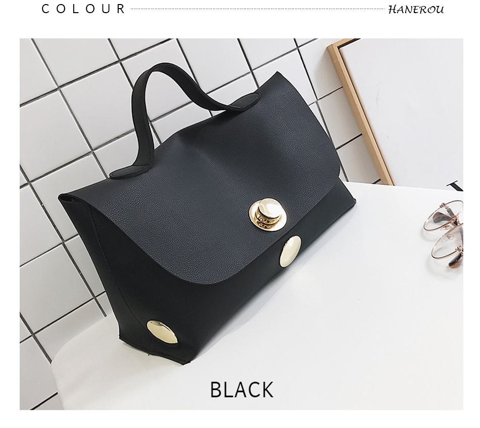 Fashion Luxury Lock Women Handbags High Quality Pu Leather Bags Handbags Women Famous Brands Big Capacity Ladies Hand Bags Sac 9