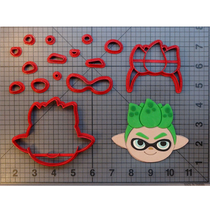 Splatoon Squid Character Fondant Baking Tool Cookie Cutter 3D Printed Made In US