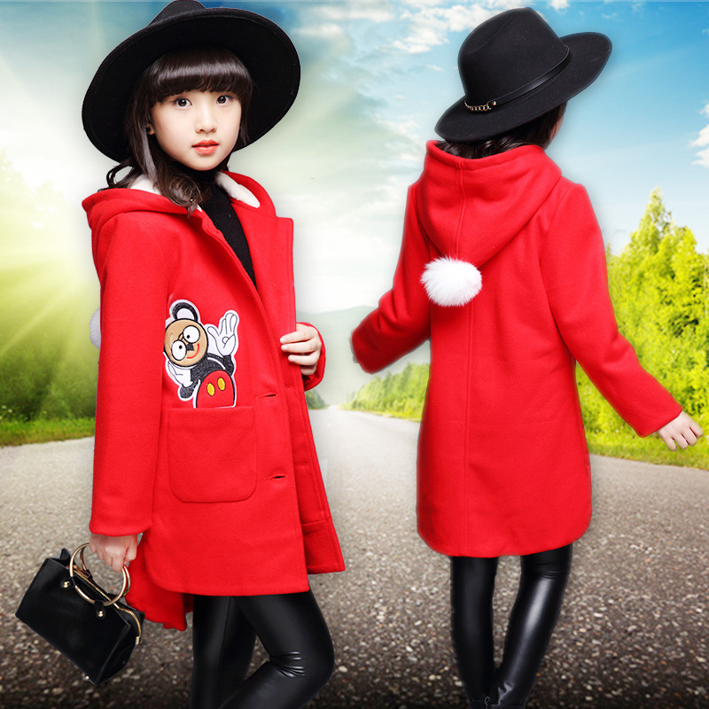 new fashion girls coat Mickey cute clothes spring windbreaker trench <br>