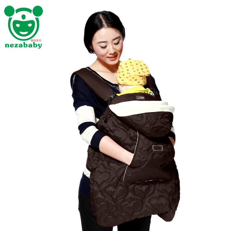 Cotton Infant Baby Carrier Sling Cover For Winter Baby Backpack Carrier Cloak Infant Baby Sling Cloak Cape BD06<br>