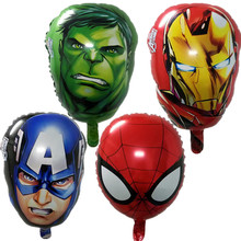 QGQYGAVJ The Avengers foil balloons super hero baby toys hulk Captain America superman batman Iron man spider-man helium balloon(China)