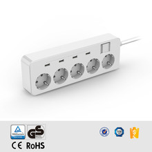 Desktop EU socket USB Power Strip 5AC Power Sockets+4 USB Outlets Surge Protected Extension Lead Adapter 1.5M Cable USB Socket
