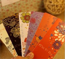 30PCS/lot NEW Vintage Flower & Birds Series paper bookmark set/Creative Retro Book marks/card/bookband/Wholesale