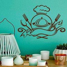 Wall Decals Food Emblem Ready to Eat Meal Kitchen Cafe Interior Design Home Art Mural Vinyl Decal Sticker Kids Room Decor