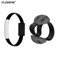 FLOVEME Micro USB Cable Winder Phone USB Cable Round USB Bracelet for Samsung S7 S7edge S6 S5 S4 For Huawei Xiaomi Cable Winder