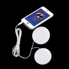 Universal 3.5mm Dual Speakers Music Pillow Speakers Loudspeaker For MP3 MP4 For Mobile Phones PC Computer Laptop Notebook White