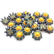 28pcs/Pack SCORPION Golf Shoes Spike Softspikes Fast Twist Studs Tri-Lok Yellow & Grey Free Shipping