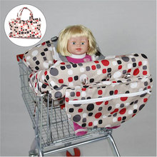 Foldable Baby Shopping Trolley Cart Seat Pad Child High Chair Cover Protector Nappy Changing Cover Baby Outdoors Supplies(China)