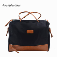 Designer handbags high quality black canvas oxford square Boston tote bags female casual small shoudler bags for woman 2colors