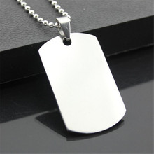 2016 New unique Designer Mens Military Army Style 316L Stainless Steel Dog Tags Chain Mens Pendant Necklace Jewelry Accessories