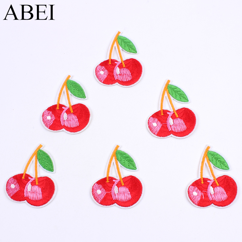 """1+/"""" Cross Stitch Cherry fruit Embroidery Patch Applique"""
