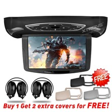 "XTRONS Monitor 10.1"" HD Digital TFT Flipdown Car Roof Mounted DVD Player stereo with HDMI Input  LED Light+ 2 IR Headphones"