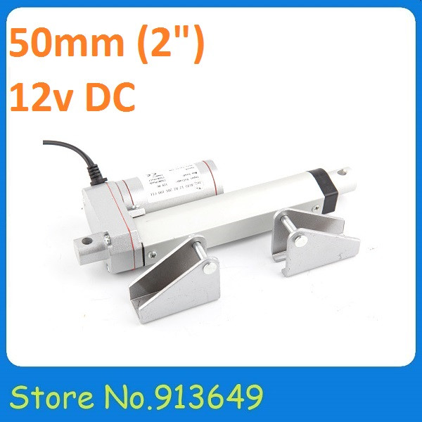 50mm/ 2inch stroke, 900N/90KG/198LBS load actuator linear with mounting brackets<br><br>Aliexpress