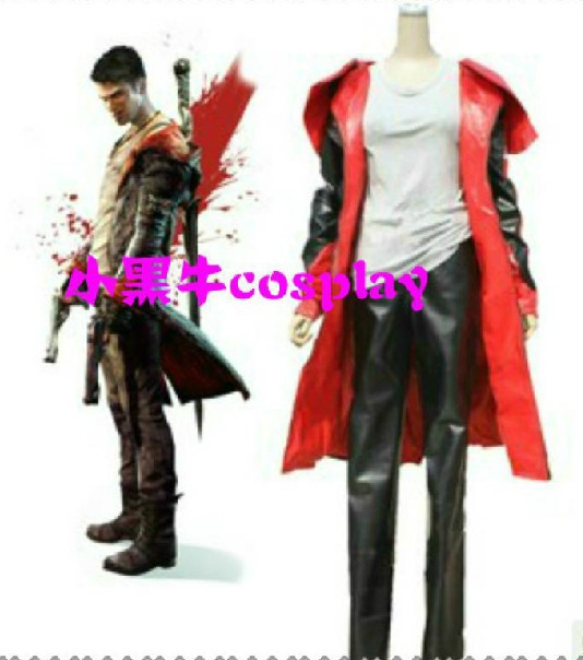 New Devil May Cry IV 4 Dante Youth Cosplay Costume