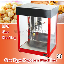 Fire Heating Popcorn Maker Commercial Gas Popcorn Machine Flattop Popper Popping Cooker(China)