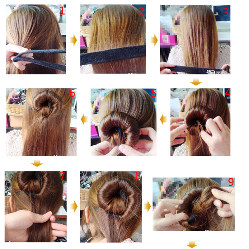 Hair-Accessories-Synthetic-Wig-Donuts-Bud-Head-Band-Ball-French-Twist-Magic-DIY-Tool-Bun-Maker
