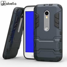 AKABEILA TPU+PC Hybrid Kickstand Phone Cases For Motoroal Moto G3 G 3nd Gen G+3 Moto X Play X3 Lux Cover Shield Smartphone Hood