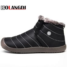 Bolangdi Waterproof Winter Plush Running Shoes Men Female Sport Shoes Women Running Snow Boots Outdoor Walking Shoes Size 36-48