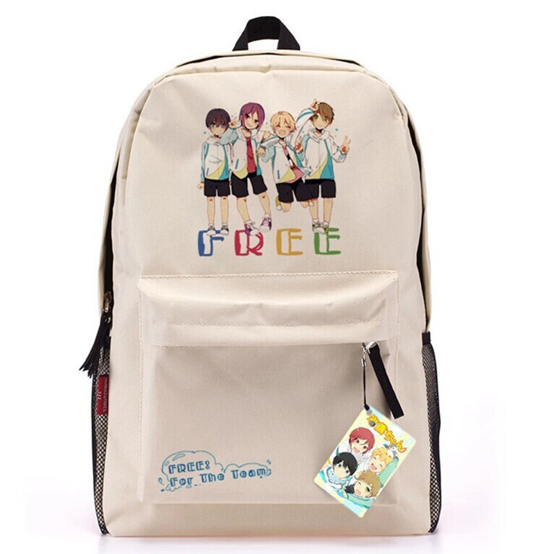 Anime Free! Iwatobi Club Denim Backpack Mochilas Kanken Backpack School Bags for Teenagers Neutral Knapsack Free Shipping<br><br>Aliexpress
