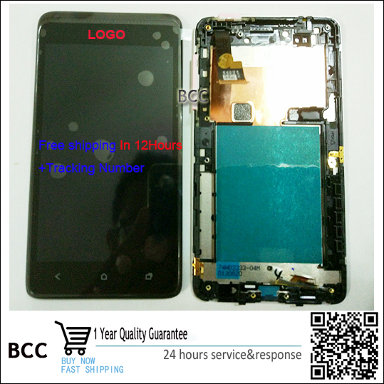 Original Black/White Full LCD Display Touch Screen Digitizer Assembly+frame For HTC Desire 400 T528W One SU free shipping+Track<br><br>Aliexpress