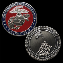 US Military United States Marine Corps /USMC Iwo Jima Antique Silver Challenge Coin 5040#