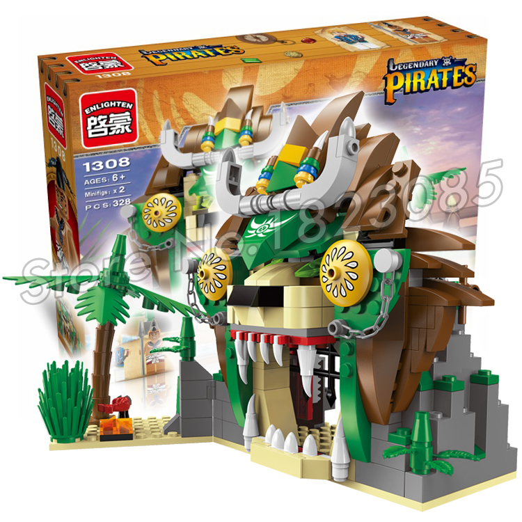 328pcs 2016 new Pirate series Lion prison Building Blocks Model Assembling Educational Boys Toy Compatible With Lego<br><br>Aliexpress