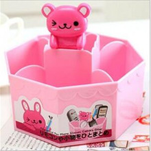 Creative Cute Lovely Cartoon Desk Storage Box Sundries Desktop Organizer Remote Control Pen Phone Container ALLYA162(China)