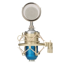 LEIHAO BM-8000 Sound Studio Microfone Recording Condenser Wired Microphone With 3.5mm Plug Stand Holder Pop Filter For Karaoke