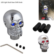 Universal Red Eyes Led Lights Car Auto Skull Gear Shift Knob lever Stick Gears Rally Racing Shifter for Manual Transmission Cars