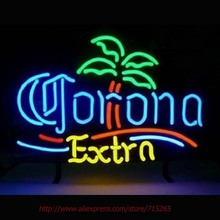 Corona Extra Palm Tree Neon Sign Neon Bulbs Led Signs Shop Display Custom Real Glass Tube Handcraft Decorated Attract Sign 19x15