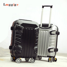 New Luggage Travel Suitcase,Male personality Universal Wheels ,Strong ABS+PC Hard Shell Trolley Box Carry-Ons with Rolling(China)