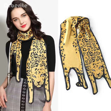1PCS Fashion Silk Scarves Designer 3D Animals Shape Cat Tiger Scarf For Women Bags Scarf Child Scarves  GPD8331