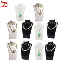 10Pcs Jewelry Display Wholesale Rack Acrylic Necklace Earring Storage Box Stand Bijoux Earring Necklace Mannequin Stand Holder
