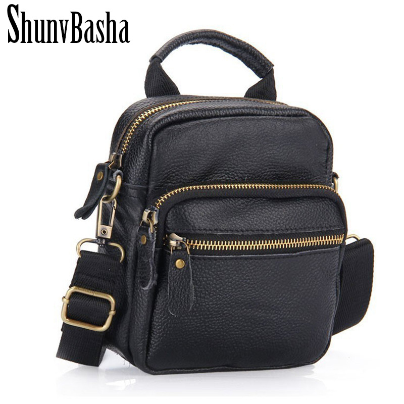 2017 Men Genuine Leather Messenger Bag Shoulder Handbags Vintage Men  Cross bord Bags Genuine Leather Small Mens Travel Bags <br><br>Aliexpress