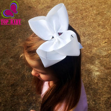 2Pcs 6Inch Big Grosgrain Ribbon Solid Hair Bows With Clips Girls Kids Hair Clips Headwear Boutique Hair Accessories