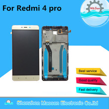 "M&Sen For 5.0"" Xiaomi Redmi 4 pro redmi 4 prime ROM-32G LCD screen display+touch digitizer with frame free shipping"