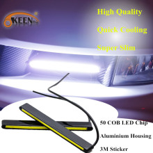 50 COB LED Chip Daytime Running Light Aluminium DRL 3M Glue Replace Directly DC12V Bright Slim Daytime Driving Lamp Front Lights
