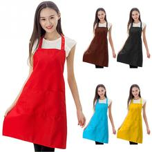 New Cooking Baking Aprons Kitchen Apron Restaurant Aprons For Women Home Sleeveless Apron(China)